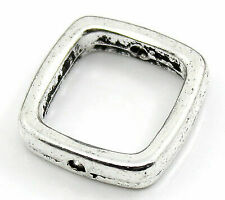 50 Pcs Tibetan Silver knot square spacer beads FC255