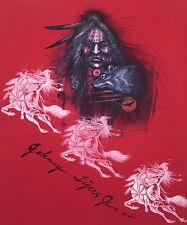 Johnny Tiger Jr Muskogee Creek Seminole Native American Indian Fabric Painting