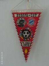 FANION FOOTBALL  1973 1/4 FINALE CLUBS CHAMPIONS BAYERN MUNICH//AJAX AMSTERDAM