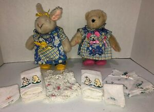 Muffy Vanderbear Hoppy Play Date Outfits Plush Undergarments Towels