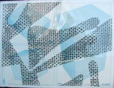 STEVEN KEISTER b 1949 AMERICAN CAT SCAN SILKSCREEN XEROX PROCESS PRINT WHITNEY