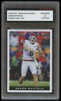 BAKER MAYFIELD 2018 LEAF NATIONAL CONVENTION 1ST GRADED 10 ROOKIE CARD RC BROWNS
