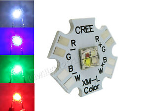 2pcs 12W RGBW RGB White 4-Chip High Power Led Red Green Blue Multicolor Light