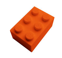 Lego 50 Stück Stein 2x3 orange (3002) Neu Steine in 2 x 3 Basics City Blocks