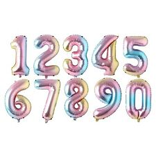 number balloon gold/silver/blue/pink/red/black/rose gold/gradient colorful foil