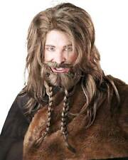 Viking Warrior Blonde Wig Beard & Mustache Halloween Costume Accessory Adult Men