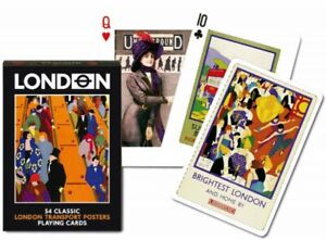 London Transport Posters set of 52 playing cards + jokers (gib)