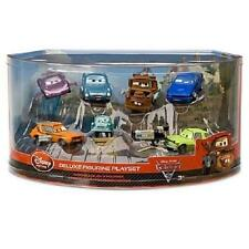 Disney Store Cars 2 Deluxe Figurine Playset 7 Cars Bath Toys Cake Toppers NEW