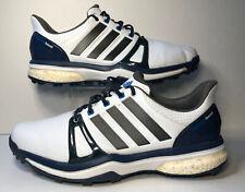 Adidas Mens Adipower Boost 2 Soft Spike Golf Shoes Blue White Gray Q44661 Sz 13