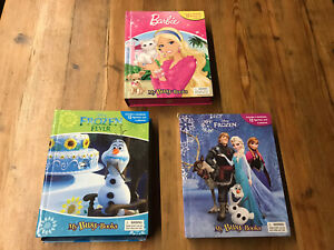 My Busy Books x3.  Frozen, Frozen Fever And Barbie
