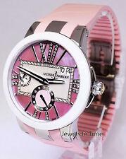 Ulysse Nardin Ladies Executive Dual Time Steel MOP Diamond Dial Watch 243-10
