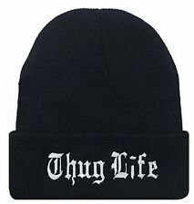 Thug Life Hat Beanie Woolen Acrylic Knitted Winter Hip Hop Urban Wear Tupac