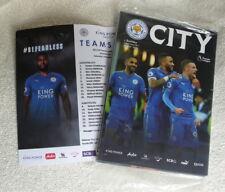 Leicester City football LCFC v Burnley 2017 – MINT programme, team sheet, poster