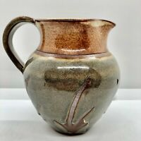 "Signed 6.5"" Tall Hand Thrown Studio Art Pottery Pitcher Jug"