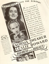 1936 Movie AD  ROMEO and JULIET MGM  Norma Shearer ,  Barrymore 032615