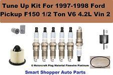 1997-1998 Ford F150 1/2Ton V6 Serpentine Belt, Oil Air Filter Spark Plug Tune Up