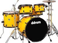 dDrum Journeyman Series Gen2 Player Basswood/Birch 5Pc Drum Set - Flash Yellow