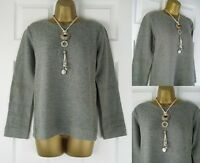 "NEW EX SEASALT GREY SOFT COTTON ""AMBER"" SWEATSHIRT SWEATER TOP UK SIZE 8 - 20"