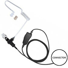 1-Wire Acoustic Tube Earpiece Mic Inline PTT for Motorola Multi-Pin 2-Way Radios