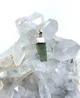 Pendentif Moldavite Pierre Naturelle 9 Cts Rare monture en Argent 925 Minéraux