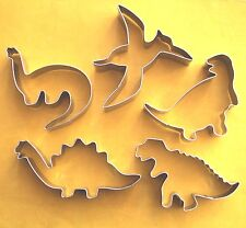 Dinosaur Cookie Cutter Dino Fondant Biscuit Stainless Steel Baking Mold set