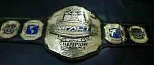 NEW TNA IMPACT WORLD CHAMPIONSHIP CHROME LEATHER Replica BELT