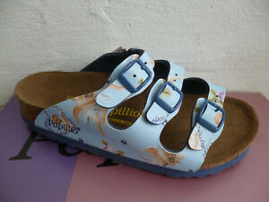 Papillio Mules House Shoe Slippers Blue/Colourful Girls New