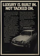 1976 VOLVO 164 Car - Luxury Is Built In. Not Tacked On - VINTAGE AD