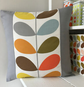 Orla Kiely Cushion Cover, Multi Stem Grey,             Handmade In Cornwall