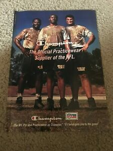 Vintage 1997 GREEN PACK PACKERS CHAMPION NFL APPAREL Poster Print Ad RARE