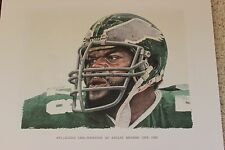 Carl Hairston Super Bowl Philadelphia Eagles Merv Corning NFL Legend Lithograph