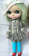 Blythe Outfit Clothing gray Flannelet Coat