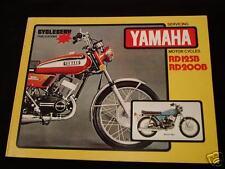 YAMAHA -RD 125B & RD 200B -WORKSHOP MANUAL