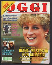 OGGI 49/1992 BEPPE GRILLO BRIGITTE BARDOT MONICA BELLUCCI DIANA ZECCHINO D'ORO