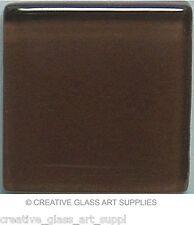 50 ct - 3/8 inch Walnut Brown Glass Mosaic Tiles