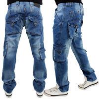 Brooklyn Mint Combat Cargo Men Bar Jeans Time Is Loose Fit Hip Hop Money Trouser