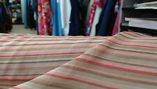 5m2 L x 1.12m width.100% SILK chiffon striped fabric