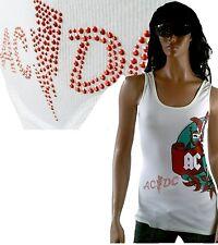 Amplified Official AC/DC Strass Tattoo Rock Star ViP TANK TOP SHIRT g.L 38 40 42