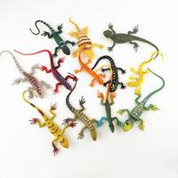 HN- 12Pcs Plastic Mini Simulation Lizard Gecko Animal Model Magic Trick Kids Toy