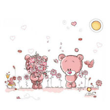 Removable Cute Couple Bear Wall Stickers Art Decal Post Nursery Girl Baby WS