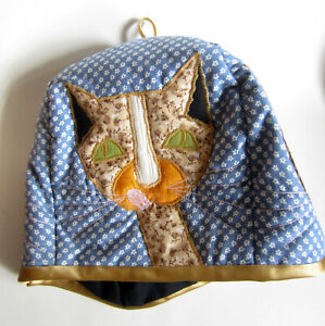 Kitty Cat Patchwork Tea Cozy Padded NWOT Handcrafted