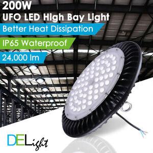 100W 150W 200W UFO LED High Bay Light Warehouse Industrial Factory  Lamp Highbay