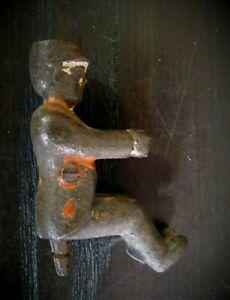 """Antique Cast Iron Driver Figure Toy Part Kenton Arcade Hubley Ives 2-1/4"""""""