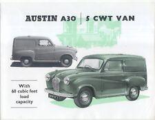 Austin A30 5cwt Van 1954-55 Original UK Sales Brochure Pub No 1132/A