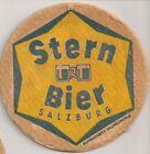"""Stern Bier, Salzburg - historischer Bierdeckel """"Pappenfabrik Haunoldmühle"""""""