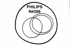 SET CINGHIE PHILIPS N4306 REGISTRATORE A BOBINE BOBINA NUOVE FRESCHE FORT N 4306