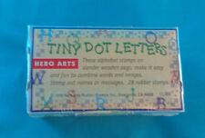 HERO ARTS TINY DOT LETTERS NEW ORIGINAL 28 PC. SET NIP NEVER OPENED 1998
