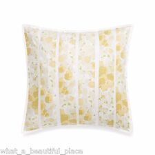 Barbara Barry Provence Square Toss Pillow Abstract Garden Floral Yellow Green