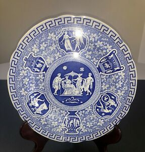 Spode Blue Room Collection Traditions Series RARE Greek Plate L@@K