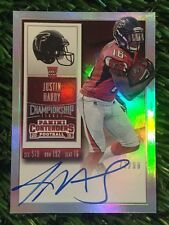2015 Contenders Justin Hardy Championship Ticket On Card Auto #ED /99 RC